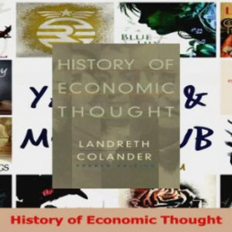 Group logo of HISTORY OF ECONOMIC THOUGHTS CTTT K56